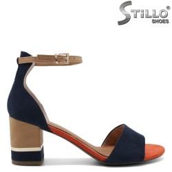 Елегантни сандали MARCO TOZZI в синьо, кафяво и оранжево - 35053