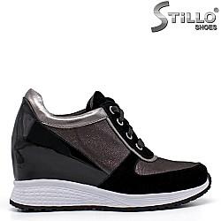 МАЛКИ РАЗМЕРИ ОТ №33- 35060 спортни обувки на платформа естествена кожа