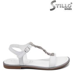 Бели ежедневни сандали MARCO TOZZI с камъчета - 35062