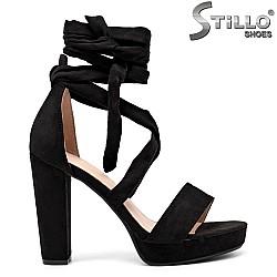 Дамски сандали с каишки около глезена - 35085