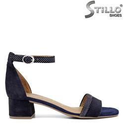 Сини сандали на бели точки Tamaris - 35113