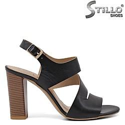 Дамски модни сандали от естествена кожа - 35127
