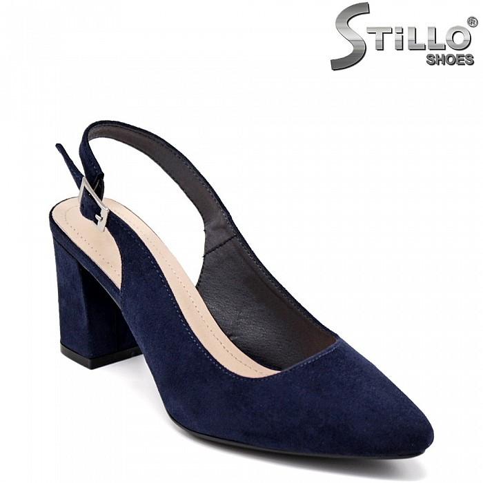 Сини обувки на ток - 35141