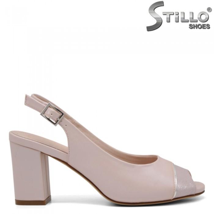Дамски сандали в цвят розова пудра - 35144