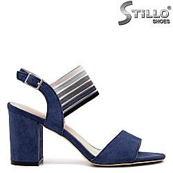 Сини сандали на висок ток - 35150