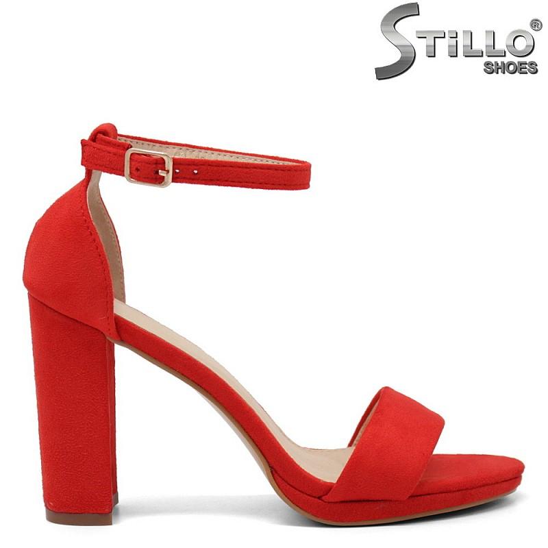 Червени сандали със затворена пета - 35179
