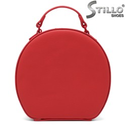 Кръгла червена чанта - 34255