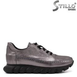 Бронзови спортни обувки с връзки - 34760