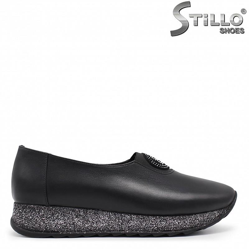 Дамски обувки естествена кожа на платформа – 33470