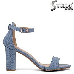 Елегантни сини сандали на висок ток - 35038
