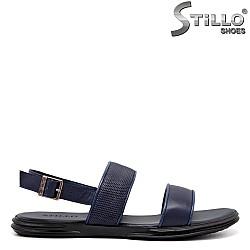 Сини мъжки сандали от естествена кожа - 35167
