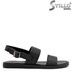 Естествена кожа мъжки сандали - 35168