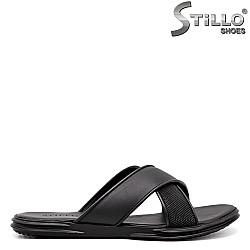 Мъжки чехли с кръстосани ленти - 35169