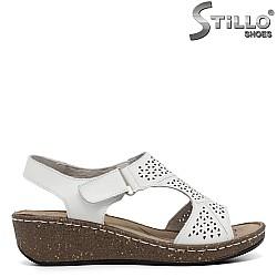 Ежедневни дамски сандали естествена кожа - 35202