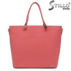 Коралова дамска чанта от естествена кожа - 35215