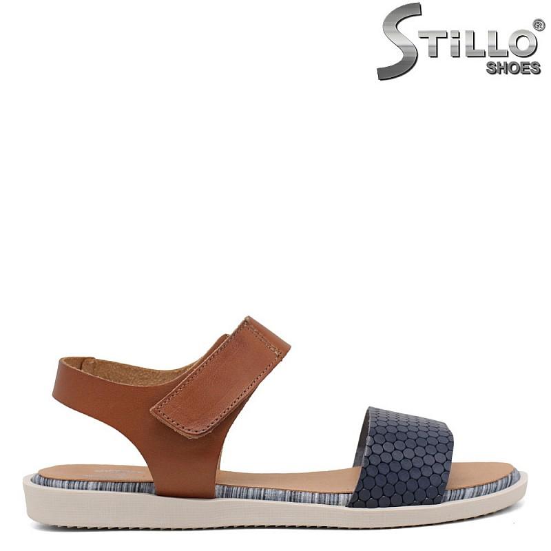 Удобни сандали на равно ходило - 35227