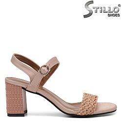 Дамски сандали на висок ефектен ток - 35256