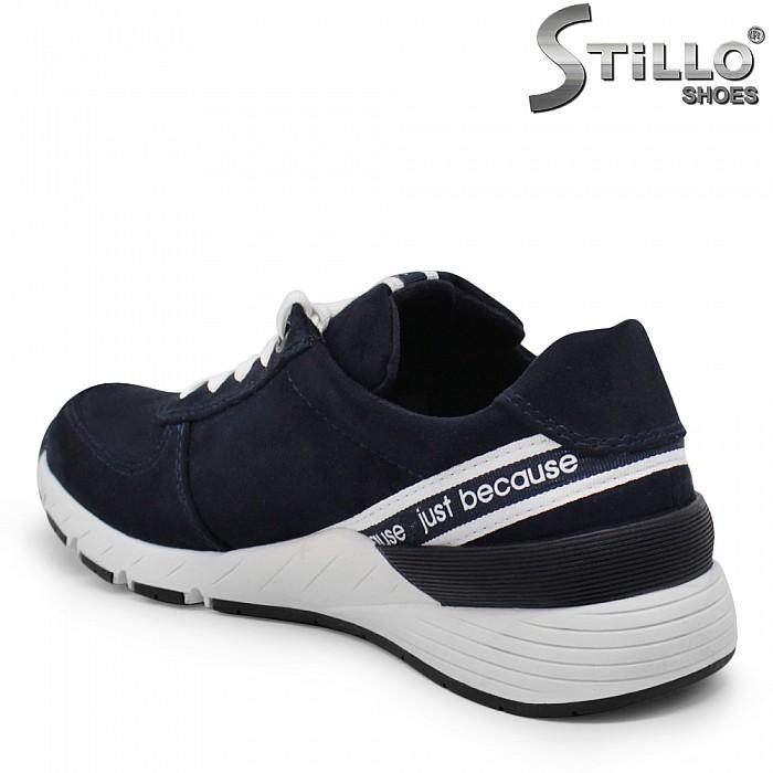 MARCO TOZZI-Сини дамски маратонки с надписи – 35429