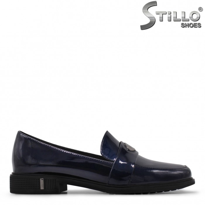 Сини лачени обувки Стилло – 35473