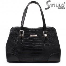 Чанта в черна кроко кожа - 35532
