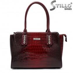Дамска чанта кроко лак - 35533