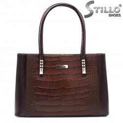 Чанта в кафява кроко кожа  - 35537