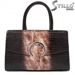 Чанта в кроко лак  - 35543