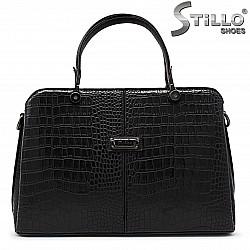 Дамска чанта с кроко щампа - 35765