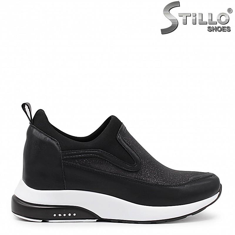 Спортни дамски обувки с брокат – 35980