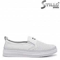 Бели пролетни обувки от естествена кожа – 35996