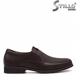 37, 38, 39 номера - Кафяви мъжки обувки от естествена кожа – 36000