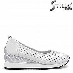 Пролетни обувки на платформа естествена кожа – 36001