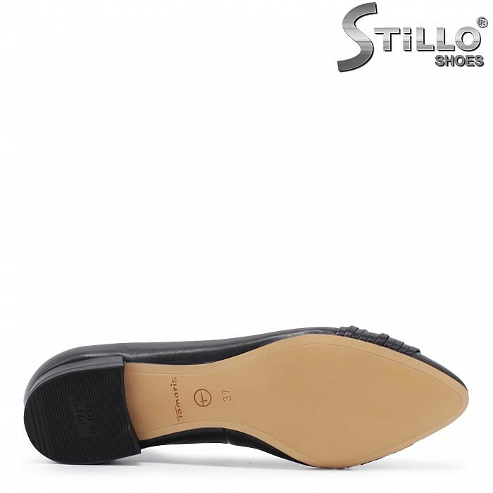 Обувки TAMARIS естествена кожа с нисък ток – 35863