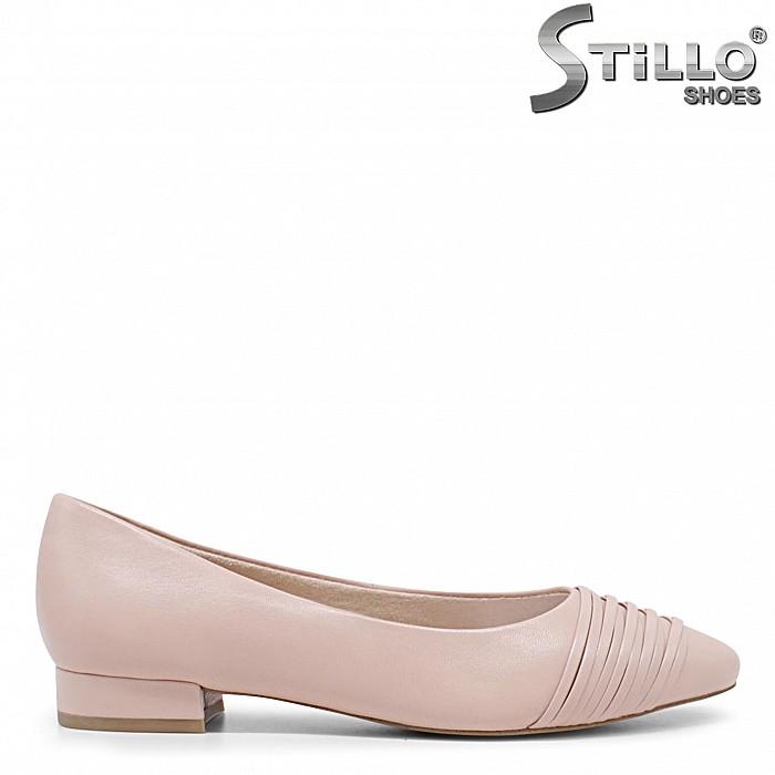 Обувки в цвят пудра от естествена кожа TAMARIS – 35864