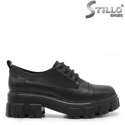 Обувки на грайферна платформа от кожа – 35895