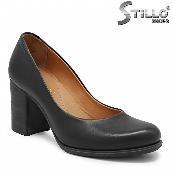 Дамски обувки от естествена кожа на ток – 31415