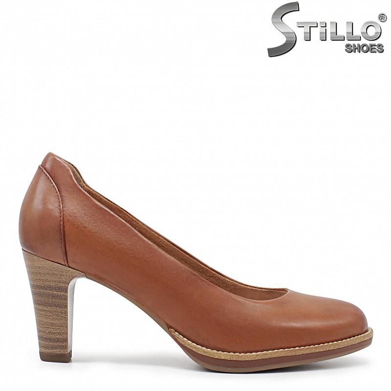 Кафяви обувки TAMARIS от естествена кожа – 35888