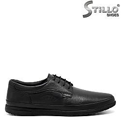 Кожени мъжки обувки с връзки - 31425