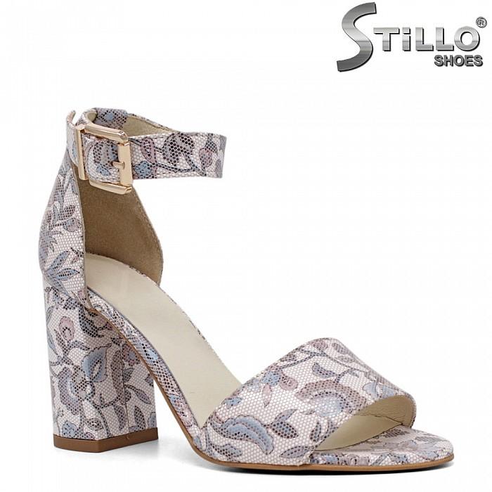 Флорални сандали на висок ток - 31153