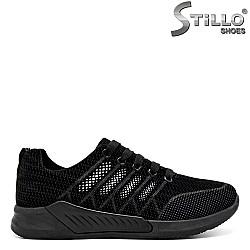 Спортни дамски обувки с връзки - 31221