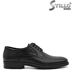 Мъжки кожени обувки с връзки - 31229