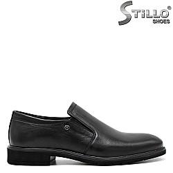 Обувки от естествена кожа с два ластика - 31230