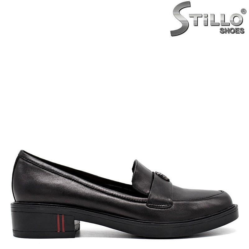 Дамски обувки от естествена кожа на нисък ток- 31248