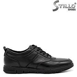 Мъжки обувки от естествена кожа с връзки - 31294