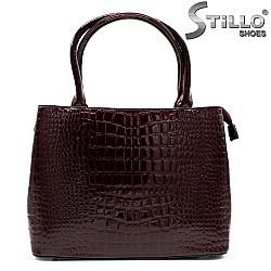Дамска чанта в бордо - 33841