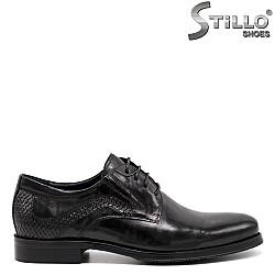 Юношески обувки от естествена кожа с връзки - 31492