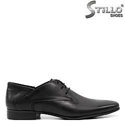Мъжки елегантни обувки с връзки и перфорация - 32030