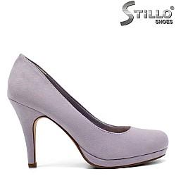 Велурени обувки Tamaris в лавандулов цвят - 32075