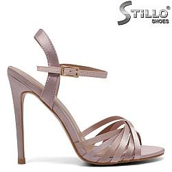 Сатенени официални сандали на висок ток - 32118