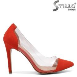 Силиконови обувки в коралов цвят - 32122